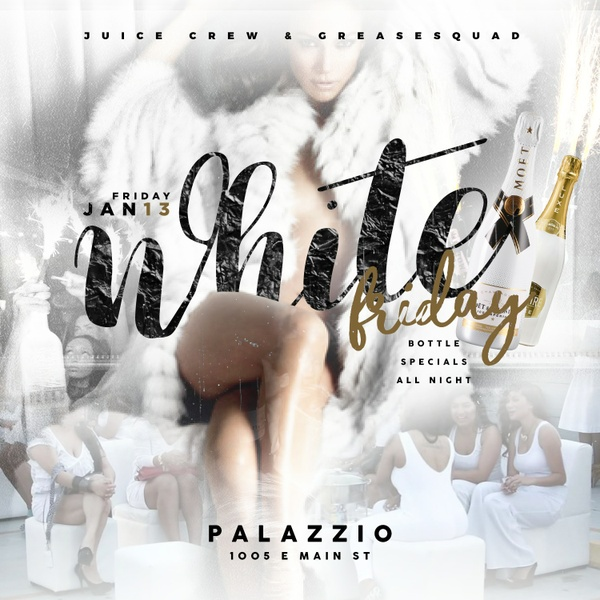 White Friday - All White Club Flyer