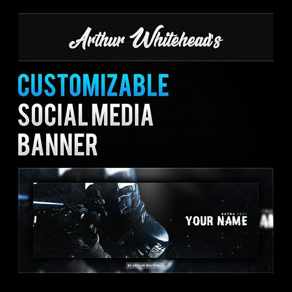 Customizable Social Media Banner V1