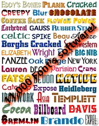 over 1100+ Fonts (TTF format)