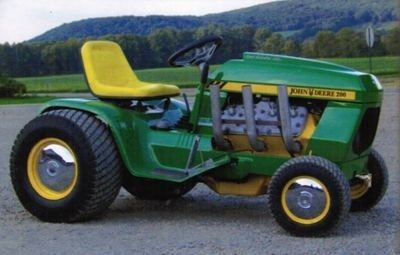 John Deere Lawn and Garden Tractor Type 200, 208, 210, 212, 214, 216 Workshop Service Manual