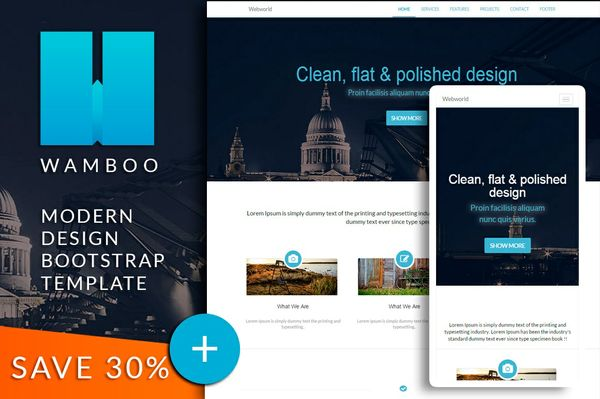 WAMBOO Bootstrap responsive html template