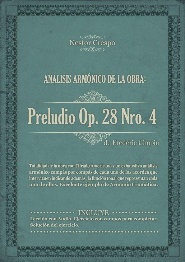 TEORÍA / ANALISIS Completo sobre el Preludio  4 de Frédéric Chopin.