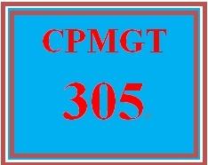 CPMGT 305 Week 2 Project Charter