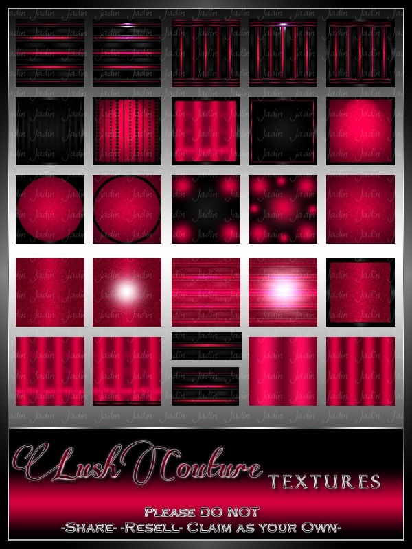 Lush Couture Texture Pack --- $4.00