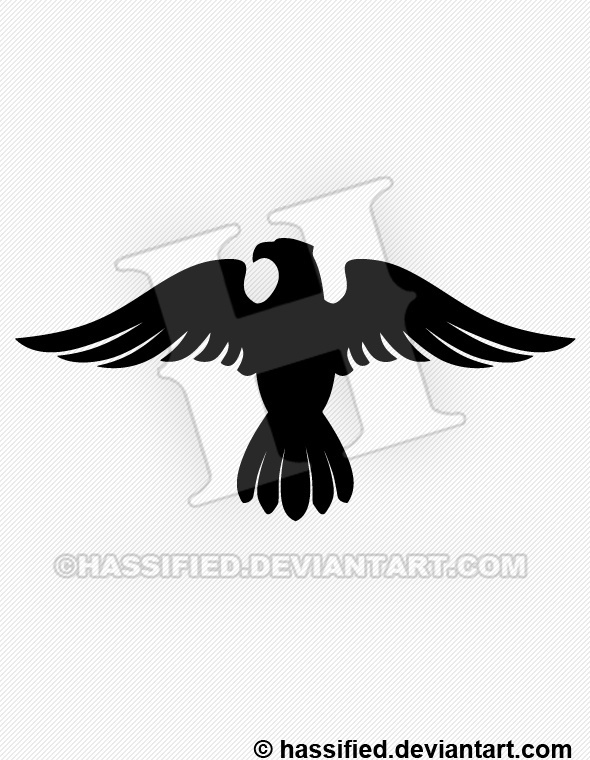 Eagle Silhouette 1 - printable, vector, svg, art