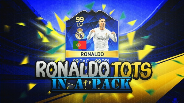 FIFA 16 THUMBNAIL TEMPLATE | RONALDO TOTS IN A PACK