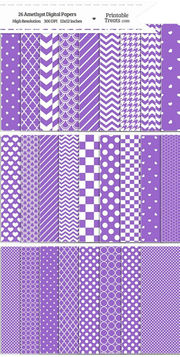 26 Amethyst Digital Paper Set Password