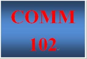 COMM 102 Week 5 Presentation Skills