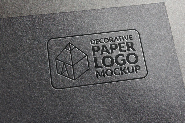 Decorative Paper Logo Mockup 3