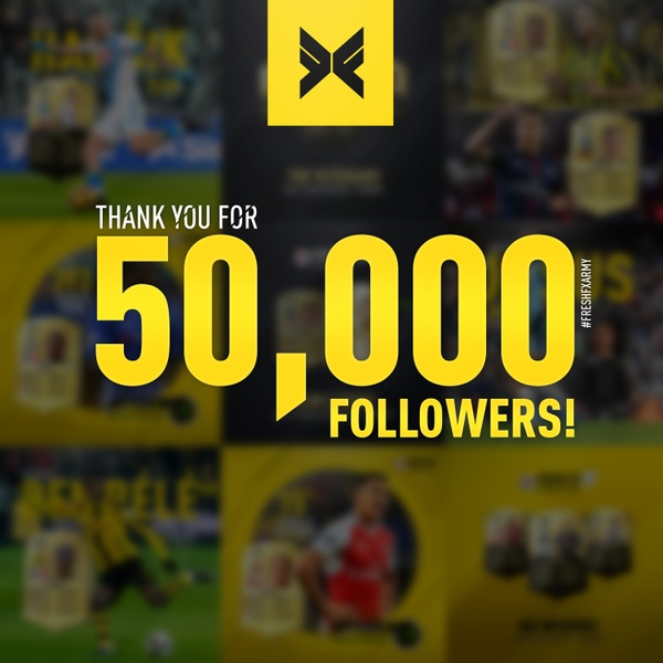 Thanks for 50,000 Instagram Followers!