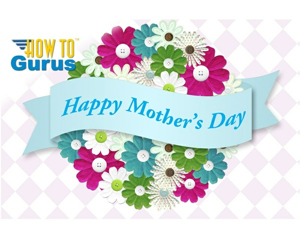 How To Make a DIY Mother's Day Card in Photoshop Elements 11 12 13 14 Tutorial