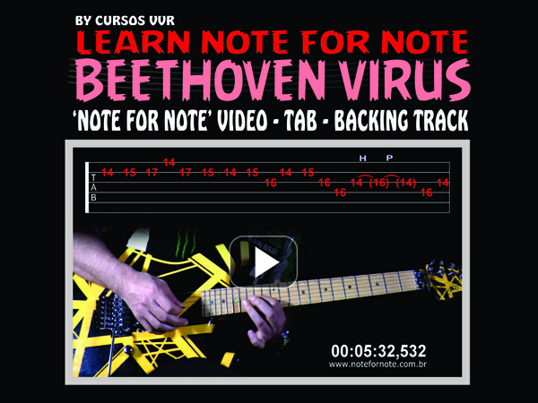 BEETHOVEN VIRUS - DOWNLOAD NOTE FOR NOTE VIDEO + TAB + BACKING TRACK