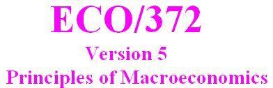 ECO 372 Week 1 DQ 2 - Version 5