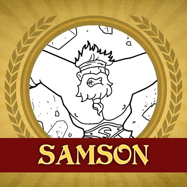 The Heroes of the Bible Coloring Pages: Samson