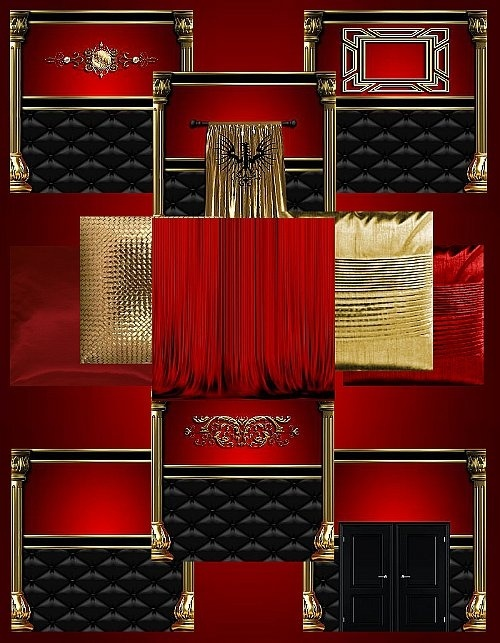 IMVU Red Gold Texture Set