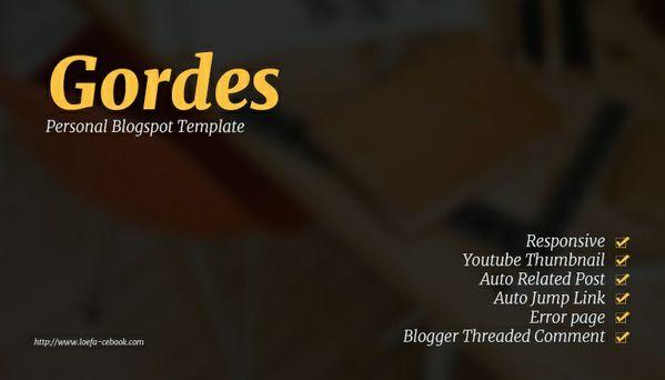 Gordes Responsive Blogger Template