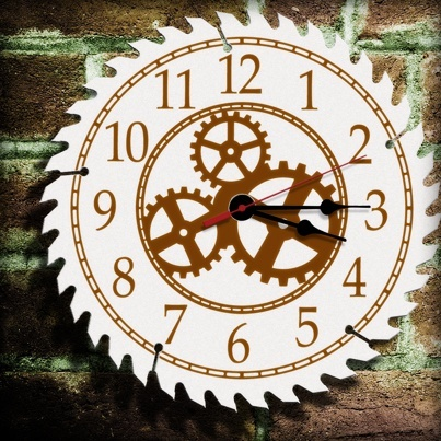 Gear Clock Dial Design - printable, vector, svg, art