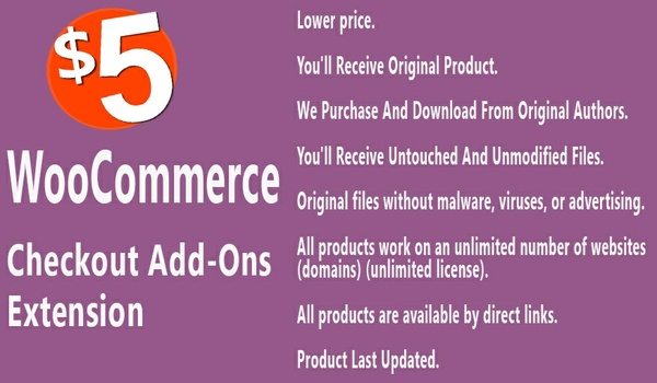 WooCommerce Checkout Add-Ons Extension
