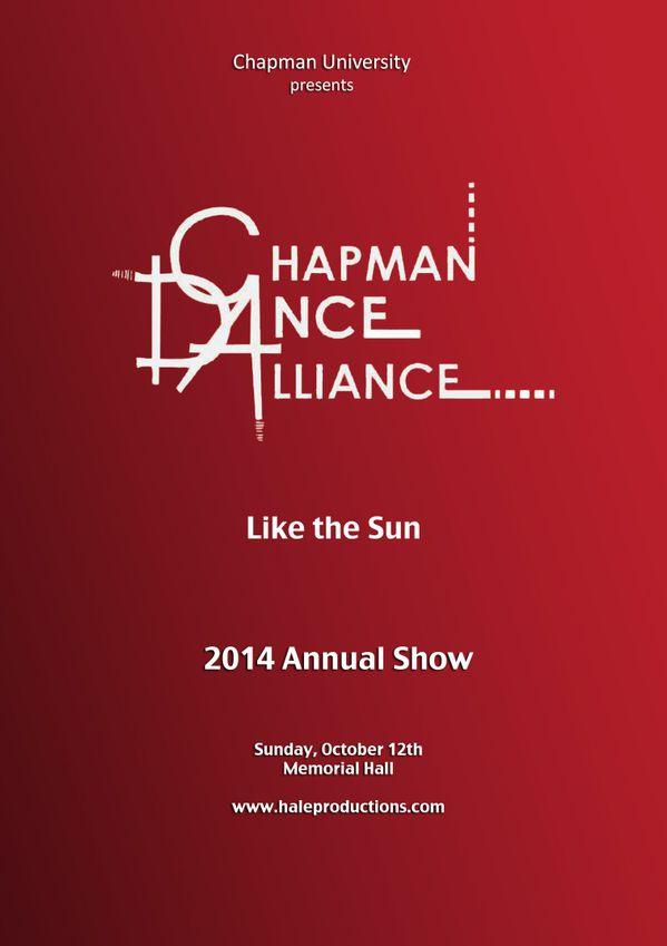 Chapman Dance Alliance 2014 - 12 Like The Sun