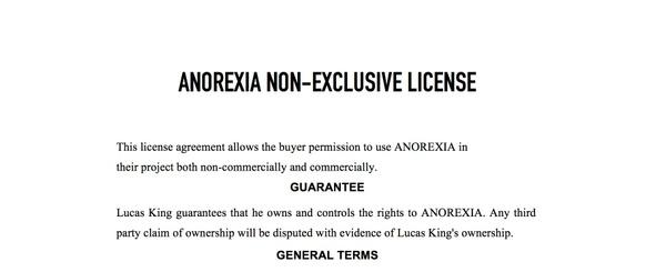 Sad Piano - Anorexia License