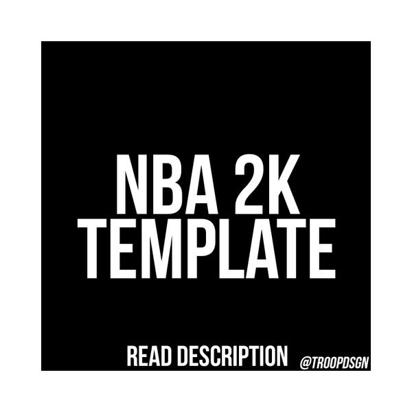 NBA 2K Template PSD