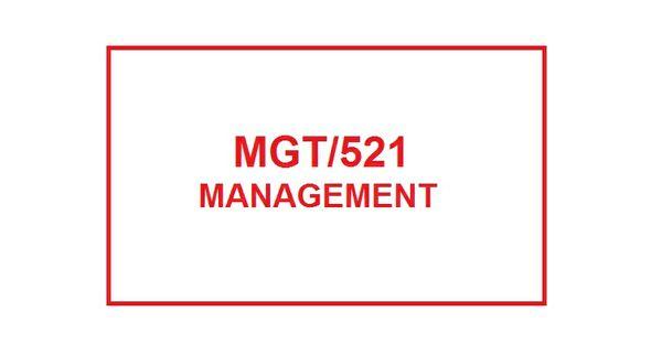 MGT 521 Week 5 Knowledge Check