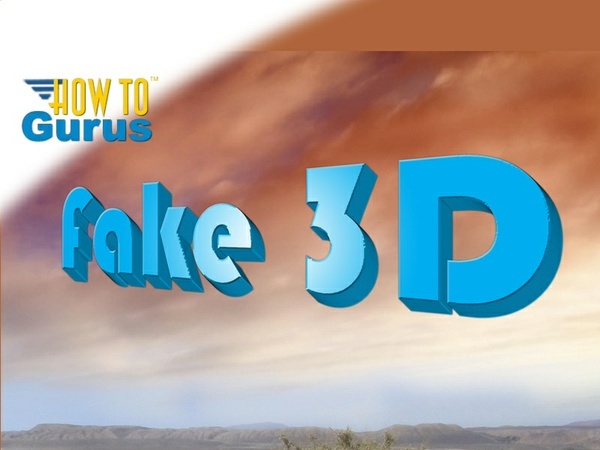 How to Make Fake 3D Text in Photoshop Elements 11 12 13 14 Tutorial