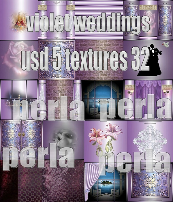 VIOLET WEDDINGS 32 TEXTURE 5USD