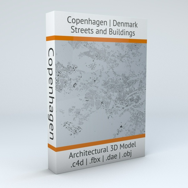 Copenhagen Streets and Buildings Architectural 3D Model
