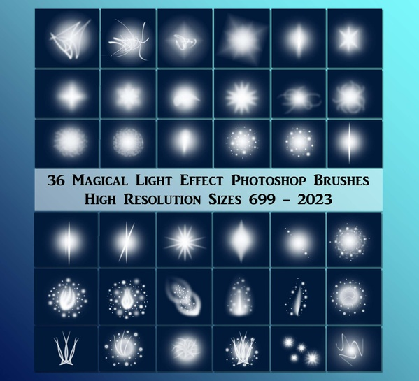 36 Magical Light Effect Photoshop Brushes