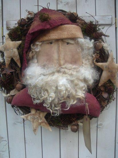 #407 ol santa wreath