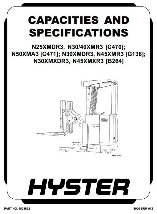 Hyster Electric Forklift Truck Type C471: N50XMA3 Workshop Service Repair Manual