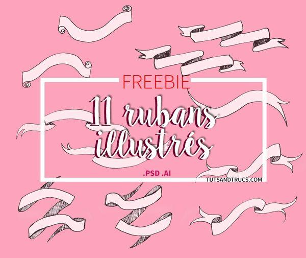 Free 11 Rubans/ Ribbons