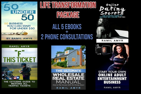 Life Transformation Package (5 Ebooks + 2 Phone Consultations)
