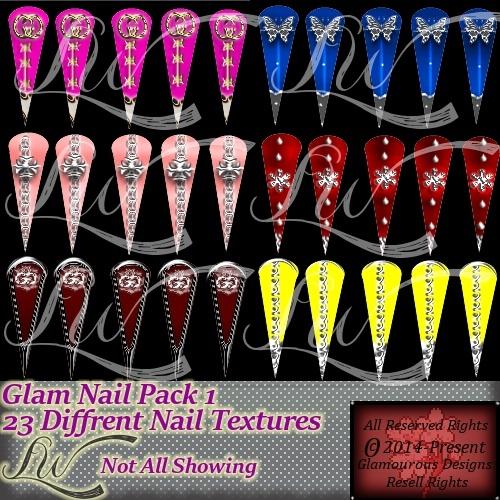 Glam Nail Pack1-NO RESELL RIGHTS
