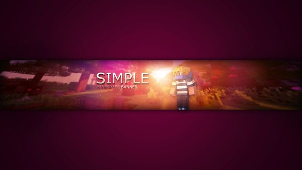 Simple Minecraft Banner