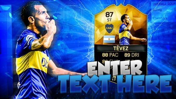 FIFA 16 Tevez Thumbnail Template TOTW 24 (PSD)