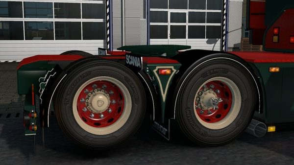 Parlocks with mudflap for Scania RJL R (Euro Truck Simulator)