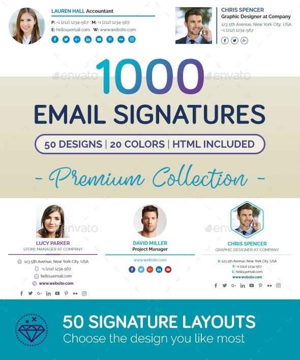 Email Signature Bundle .PSD