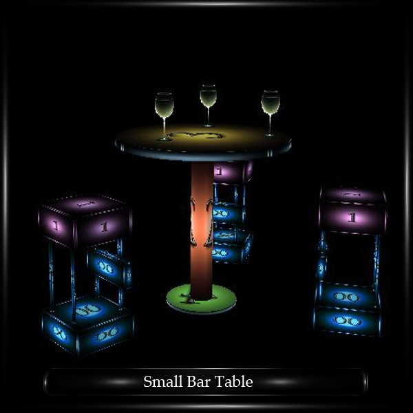 SMALL BAR TABLE STOOLS