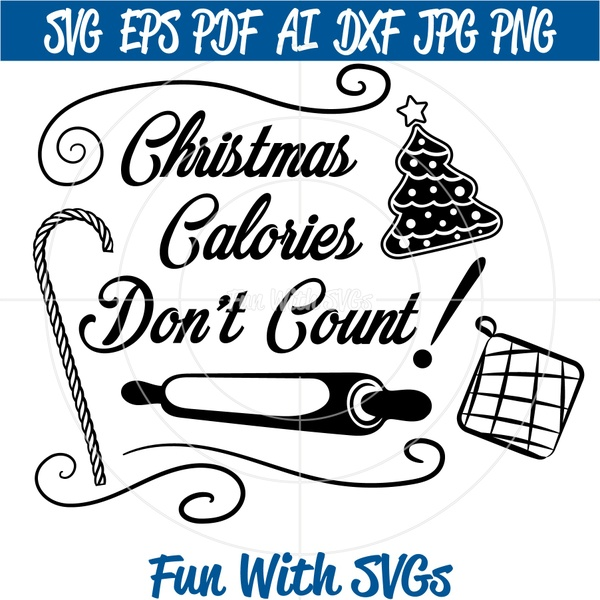 Christmas Calories Don't Count, DIY Potholders, Aprons, Kitchen Towels