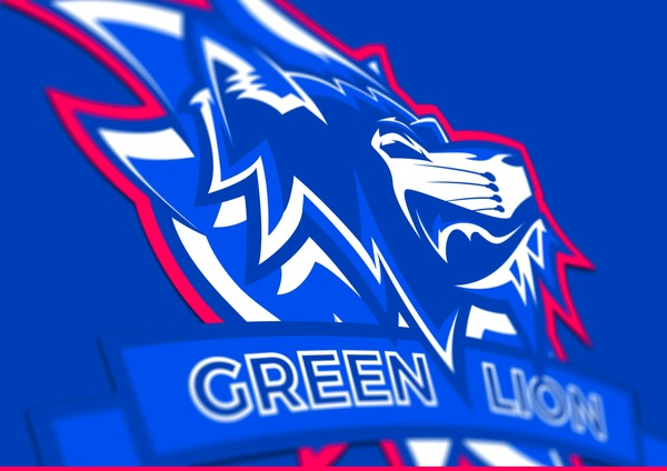 Green Lion Mascotte - Gaming & eSport