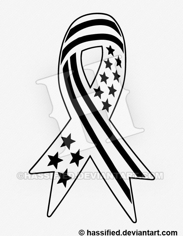 Patriot Ribbon - printable, vector, svg, art