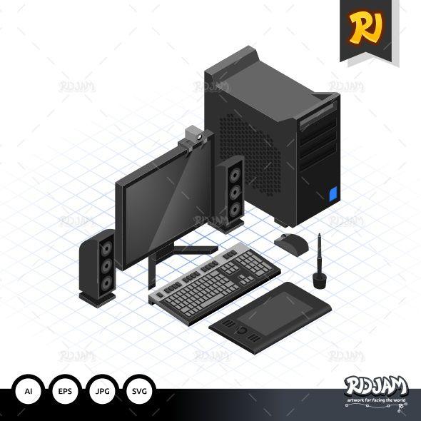 Isometric Computer Set