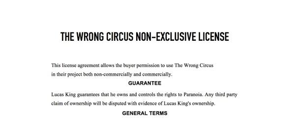 Creepy Clown Music - The Wrong Circus License