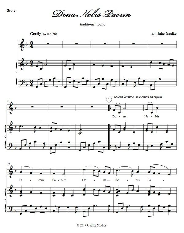 Dona Nobis Pacem - key of F