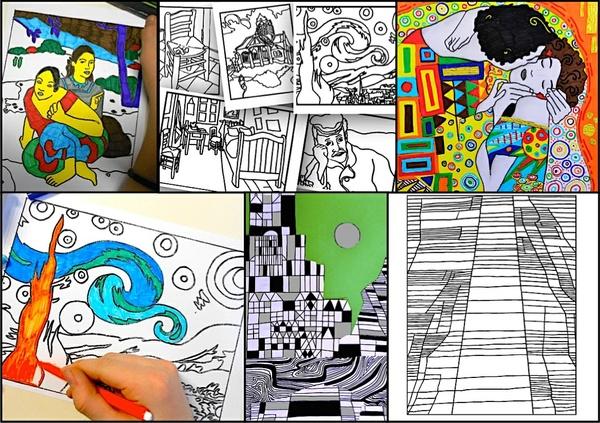 Artists set: Gauguin Van Gogh Klimt Klee worksheets