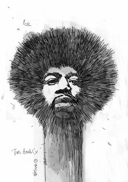 Sketch of Jimi Hendrix