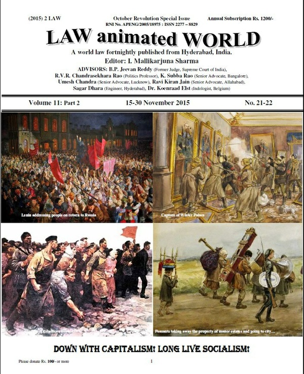 LAW ANIMATED WORLD, October Revolution Special issue, 15-30 November 2015