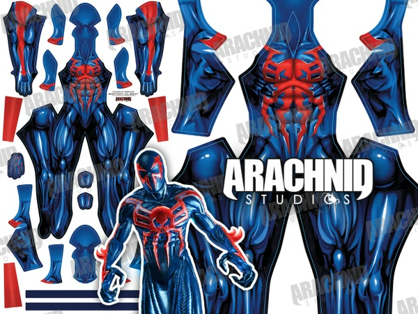 Spider-Man 2099 Dye-sub pattern